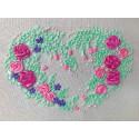Розовое сердце Набор для вышивания лентами FeDi ЛН302