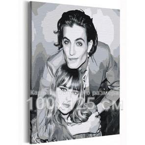 Maneskin / Виктория и Дамиано 100х125 см Раскраска картина по номерам на холсте AAAA-RS251-100x125
