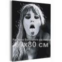 Maneskin / Виктория / Victoria De Angelis черно-белая 60х80 см Раскраска картина по номерам на холсте AAAA-RS160-60x80