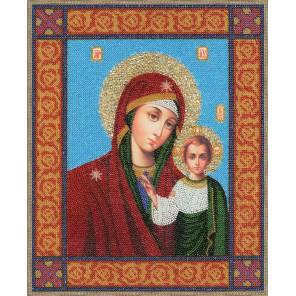 Икона Божей Матери Казанская Набор для вышивания бисером Золотое Руно РТ-033
