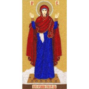 Образ Божией Матери Нерушимая стена Набор для вышивания бисером Золотое Руно РТ-085