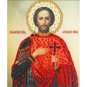 Икона Святого Благоверного Великого Князя Александра Невского Набор для вышивания бисером Золотое Руно РТ-126