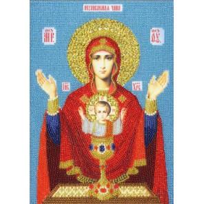 Икона Божией Матери Неупиваемая чаша Набор для вышивания бисером Золотое Руно РТ-158
