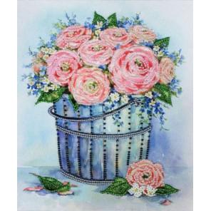 Розы в ведерке Набор для вышивания бисером Золотое Руно РТ-166