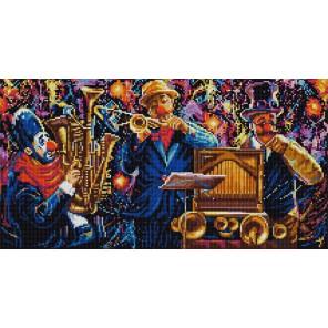 Цирковой оркестр Ткань с рисунком для вышивки бисером Конек 1328