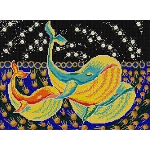 Три кита Ткань с рисунком для вышивки бисером Конек 1331