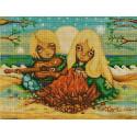 Ямайка Ткань с рисунком для вышивки бисером Конек 1334
