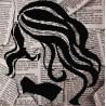 Леди Ткань с рисунком для вышивки бисером Божья коровка 0129