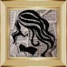 Вариант оформления в рамке Леди Ткань с рисунком для вышивки бисером Божья коровка 0129