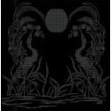 Закат Ткань с рисунком для вышивки бисером Божья коровка 0131