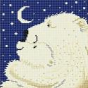 Большая медведица Ткань с рисунком для вышивки бисером Божья коровка 0134