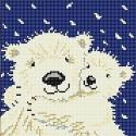 С мамой Ткань с рисунком для вышивки бисером Божья коровка 0135