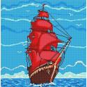 Алые Паруса Ткань с рисунком для вышивки бисером Божья коровка 0137