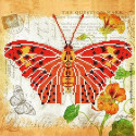 Бабочка 1 Ткань с рисунком для вышивки бисером Божья коровка 0141