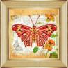 Вариант оформления в рамке Бабочка 1 Ткань с рисунком для вышивки бисером Божья коровка 0141