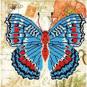 Бабочка 2 Ткань с рисунком для вышивки бисером Божья коровка 0142