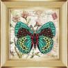 Вариант оформления в рамке Бабочка 5 Ткань с рисунком для вышивки бисером Божья коровка 0145