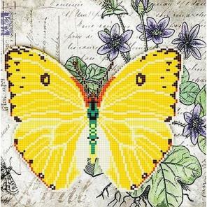 Бабочка 6 Ткань с рисунком для вышивки бисером Божья коровка 0146