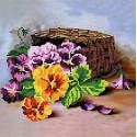 Букет Ткань с рисунком для вышивки бисером Божья коровка 0150