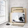 Maneskin / Виктория черно-белая 100х150 см Раскраска картина по номерам на холсте AAAA-RS316-100x150