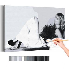 Maneskin / Виктория черно-белая Раскраска картина по номерам на холсте AAAA-RS316