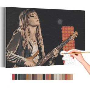 Maneskin / Виктория с гитарой Раскраска картина по номерам на холсте AAAA-RS317
