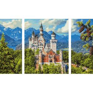 Замок Нойшванштайн Триптих картина по номерам Schipper (Германия) 9260837