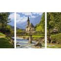 Церковь Святого Себастьяна в Рамзау Триптих картина по номерам Schipper (Германия) 9260839