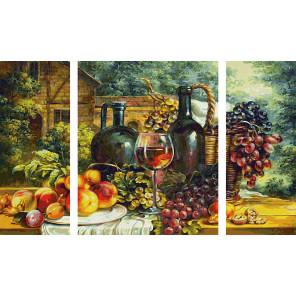 Натюрморт с виноградом Триптих картина по номерам Schipper (Германия) 9260847