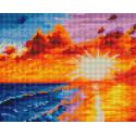 Золотой закат Алмазная вышивка мозаика на подрамнике Белоснежка 593-ST-S