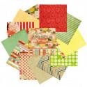 Яркие цветы Набор бумаги 30,5х30,5 см для скрапбукинга, кардмейкинга Белоснежка 027-SB