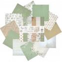 Весенние цветы Набор бумаги 25,5х25,5 см для скрапбукинга, кардмейкинга Белоснежка 076-SB