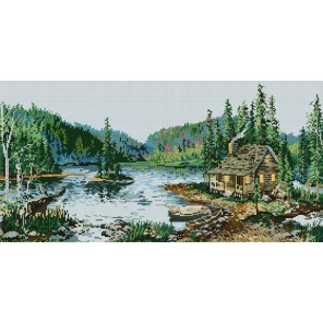 Озеро Кайгас Алмазная вышивка (мозаика) Sddi Anya