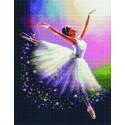 Невесомость балерины Алмазная вышивка мозаика на подрамнике на подрамнике WB11805