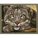 Вариант оформления в рамке Барс Алмазная вышивка мозаика с нанесенной рамкой Molly KM0926