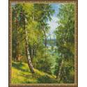 Березы в лесу (И. Прищепа) Алмазная вышивка мозаика с нанесенной рамкой Molly KM0912