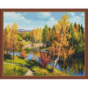 Золотая осень (И. Прищепа) Алмазная вышивка мозаика с нанесенной рамкой Molly KM0913