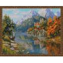 Замок в горах (И. Прищепа) Алмазная вышивка мозаика с нанесенной рамкой Molly KM0917