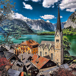 Австрия. Альпы Алмазная вышивка мозаика Molly KM0920