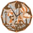 Часы Прогулки по Парижу Набор для творчества Котеин KD0214