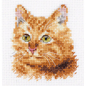Животные в портретах. Рыжий кот Набор для вышивания Алиса 0-207