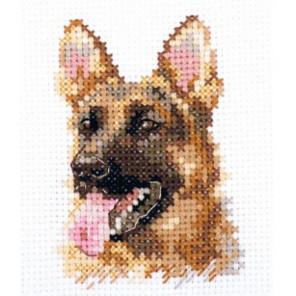 Животные в портретах. Овчарка Набор для вышивания Алиса 0-209