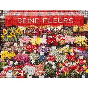 Цветочный магазин в Париже Набор для вышивания Lecien Corporation 713