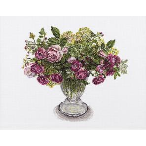 Розы и травы Набор для вышивания Lecien Corporation 680