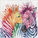 Яркие зебры Набор для вышивания Design works 3266