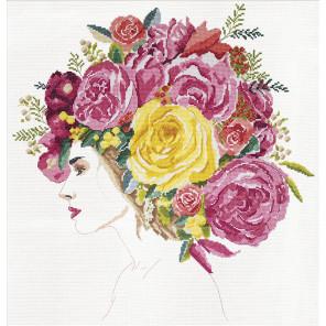 Цветы в ее волосах Набор для вышивания Design works 3411