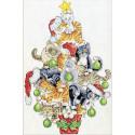 Рождественская елка из кошек Набор для вышивания Design works 3419