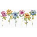 Акварельный цветочный ряд Набор для вышивания Design works 3414