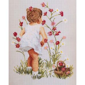 Девочка и космея Набор для вышивания Janlynn 029-0018