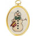 Снеговик с сигареткой Набор для вышивания Janlynn 021-1793